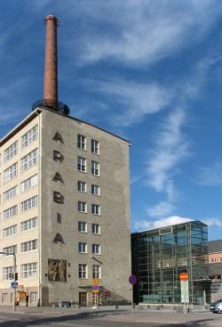 Завод Arabia, его музей и галерея, заводские магазины