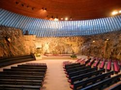 Темпелплатс - церковь в скале (Temppeliaukion Kirkko)